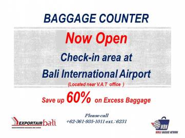 excess baggage counter is now open 